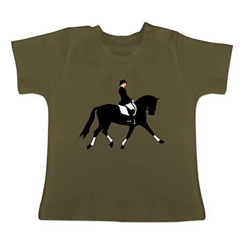 Sport Baby - Dressurreiten - 3-6 Monate - Olivgrün - BZ02 - Baby T-Shirt Kurzarm