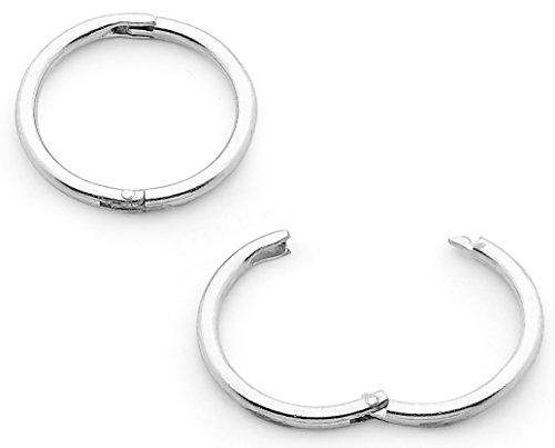 365 Sleepers Unisex Kinder Herren Damen -    Sterling-Silber 925       (Hoop Lippe Ringe)