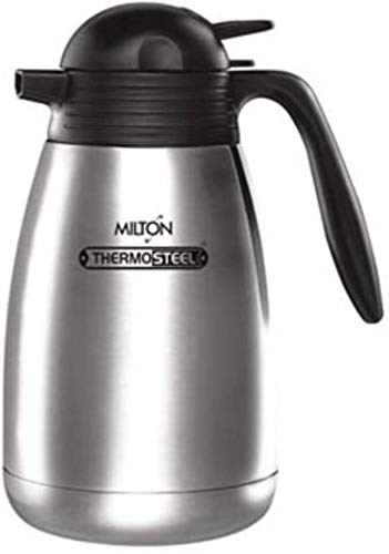MILTON Thermosteel Carafe 2000ml, Stainless Steel Flask Silver Color (Pack of 1,)