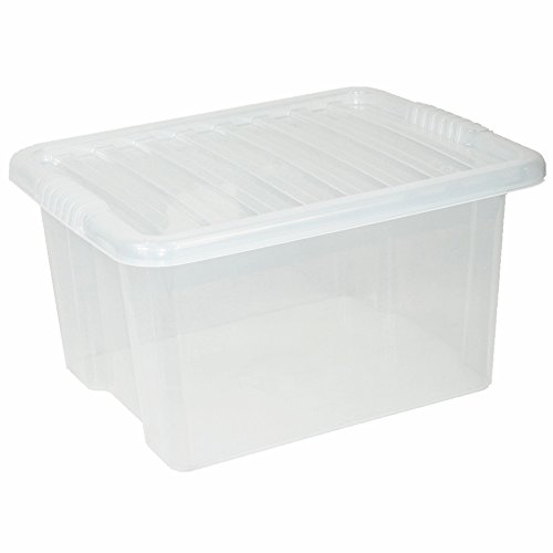 crazygadget-small-medium-large-big-plastic-storage-clear-box-with-clear-lid-strong-stackable-contain