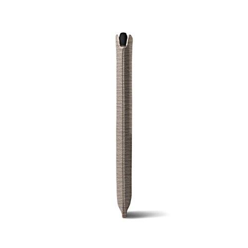 Lucrin - Étui classique iPhone X - Bleu Roi - Cuir Grainé Taupe Clair