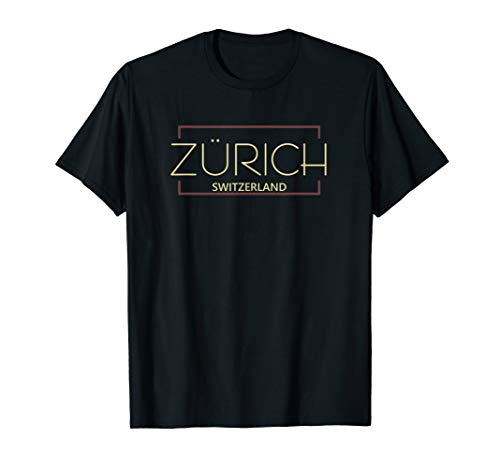 Simples schlichtes Fashion Zürich Schweiz T-Shirt