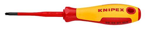 Knipex 98 25 01 SLS Schraubendreher (Slim) Plusminus Pozidriv 187 mm, 12 Stück