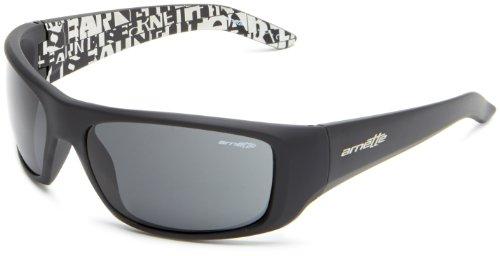 Arnette Herren 0AN4182 219687 62 Sonnenbrille, Schwarz (Fuzzy Black/Gray),