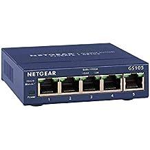 NETGEAR GS105GE Switch Métal 5 Ports Non Manageables ProSAFE , Garantie à Vie Parfait pour les PME et TPE