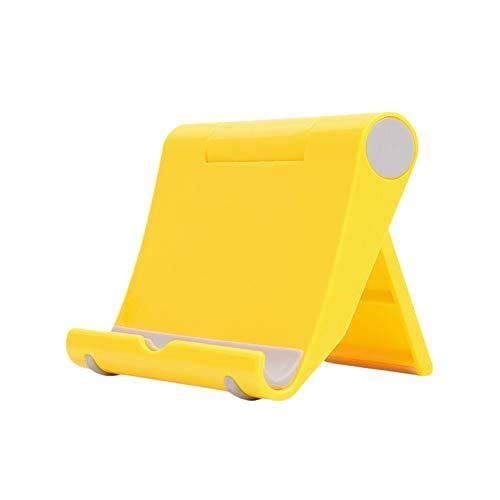 6SlonHy Universal 270 Grad Faltbarer Klebstoff Desktop Handy Tablet Halter Ständer Halterung Gelb Regulär -