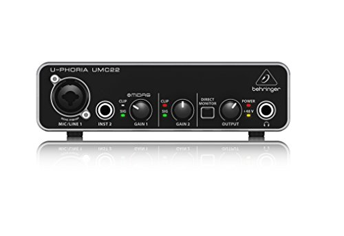 Behringer UMC22 U-Phoria Interface audio USB 2.0 2 entrées / 2 sorties