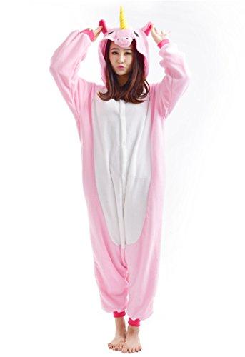 YARBAR Erwachsene Tier Onesies Unisex Kigurumi Karneval Halloween Kostüm Cosplay Pyjama Nachtwäsche Jumpsuit Pink (Sexy Kostüme Hamster)