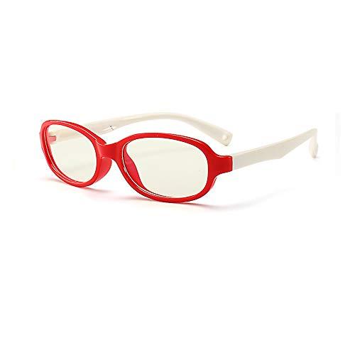 Kids Computer Glasses, Blue Light Block [Flexible Lightweight] Glasses for Kids, Anti-Eyestrain UV Computer Glasses Clear Lens, Suitable for 3-12 Years Old Child Sleep Better