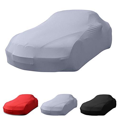MyCarCover Porsche passend Stretch Soft Cover Indoor Autoplane Autoabdeckung Auto Car Cover Abdeckplane Schmutzabweisend Autogarage Staubdicht extrem Atmungsaktiv Autodecke (Grau)