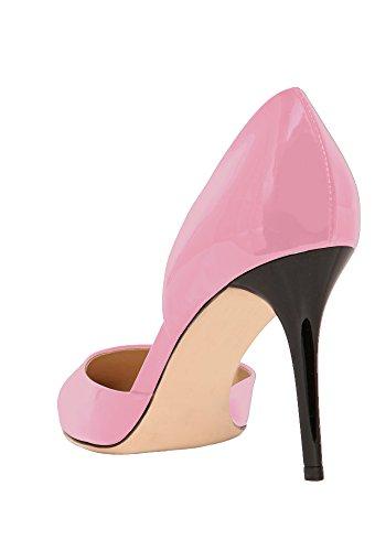 Guoar - Scarpe chiuse Donna (Pink Lackleder)