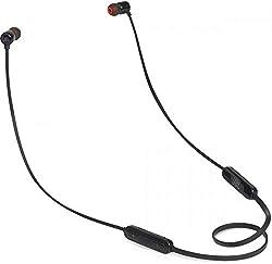 JBL Tune110BT In-Ear Bluetooth-Kopfhörer - Kabellose Ohrhörer mit integriertem Mikrofon - Musik Streaming bis zu 6 Stunden mit nur einer Akku-Ladung Schwarz