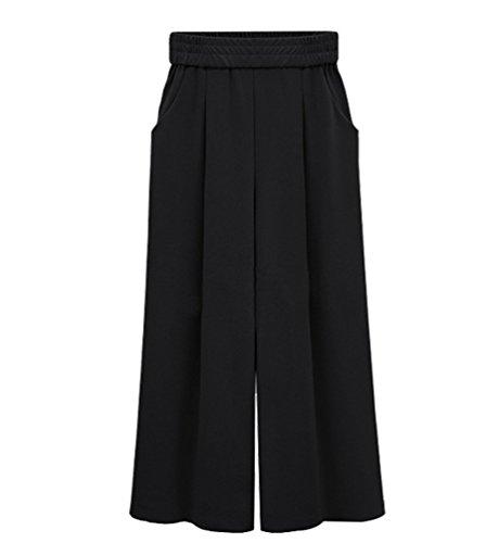 Chicwe Donna Taglie Forti Curvy Fit Cropped Pantaloni Ritagliata con ... 92a37e1df6b