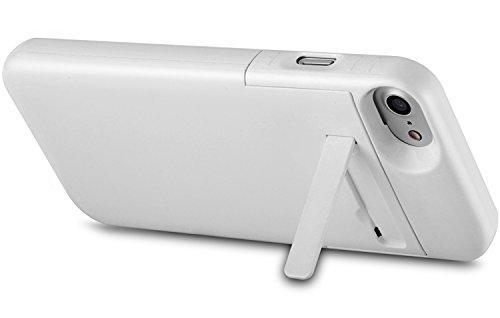 Batteria Cover iPhone 8 / iPhone 7 4.7, PEMOTech® 3200mAh Custodia Cover Protettiva con Batteria Esterna per iPhone 8, iPhone 7, iPhone 6, iPhone 6s 4.7, Cover batteria Power Bank con batteria integ Bianco