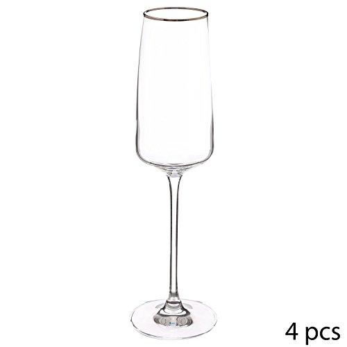 Secret de gourmet 4 Flûtes à Champagne Ellea - 25 cl - Cristallin
