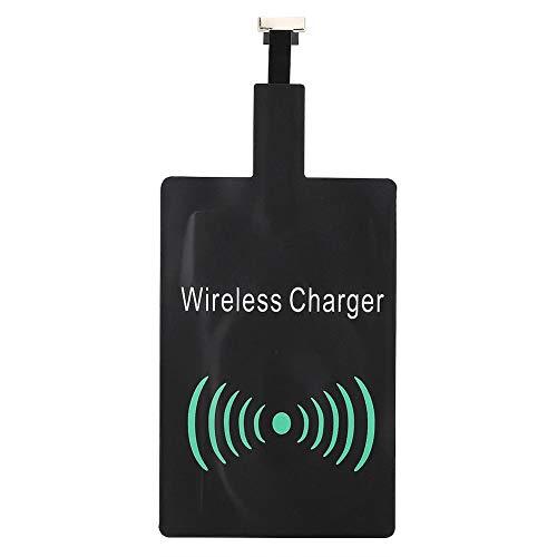ASHATA Wireless Qi Receiver,Wireless Ladegerät Empfänger Qi Ladeempfänger Charging Receiver,Universal Ladeempfänger Adapter Modul Chip Aufladen Empfänger mit Micro-USB/Typ-C Anschluss(Für Micro-USB) Universal Wireless Adapter