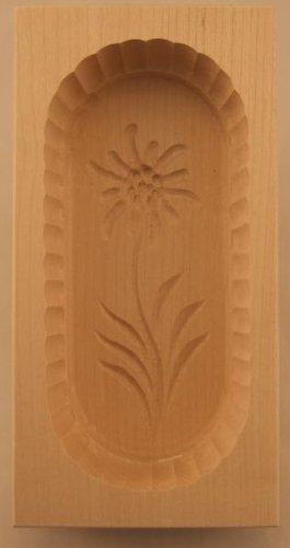 Hofmeister Holzwaren Butterform, eckig, 250 Gramm, Edelweiß, aus Ahorn-Holz