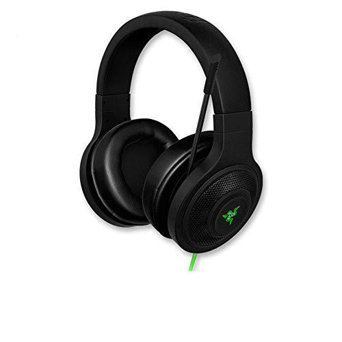 Gaming-Headset mit Mikrofon für PS4, Xbox One, PC, 3,5 mm Surround-Stereo-Spiel-Kopfhörer mit Geräuschunterdrückung, LED-Leuchten und weichen Memory-Ohrenschützern für Laptop Schwarz USB