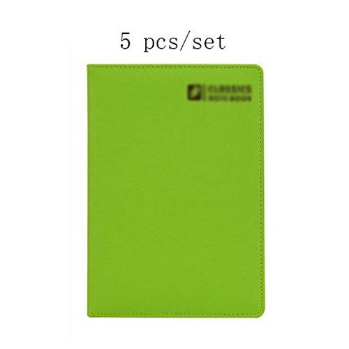 Liu Yu·Bürofläche, Büro Schreibwaren grün A5 Notebook High-Grade Verdickung Notebook 5 Stück / Set -