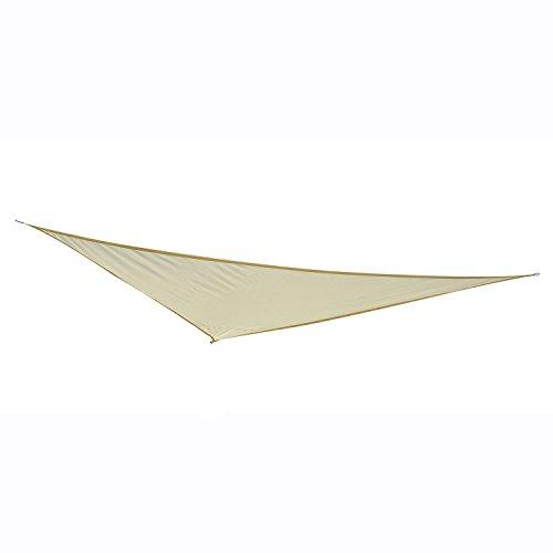 Outsunny Sonnensegel Sonnendach Sonnenschutz Dreiecke Polyester (Weiß, 5x5x5m)