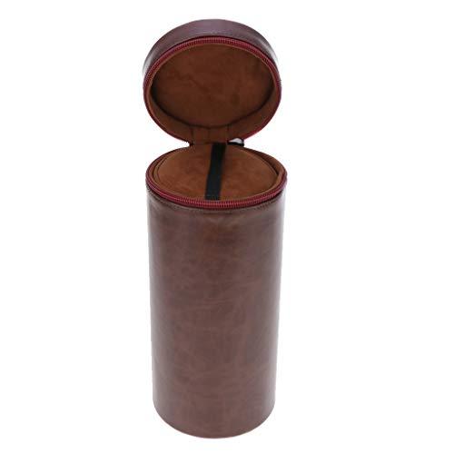 Homyl PU-Leder Objektivbeutel Objektivtasche Objektiv-Köcher Schutz-Tasche für Objektiv, Monitor, Kamera-Zubehör, 24,5x10cm -