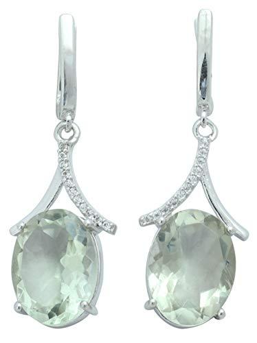 Banithani 925 Pure Silver Charm Grüne Amethyst Stein baumeln Ohrringe Frauen Fashion Jewelry