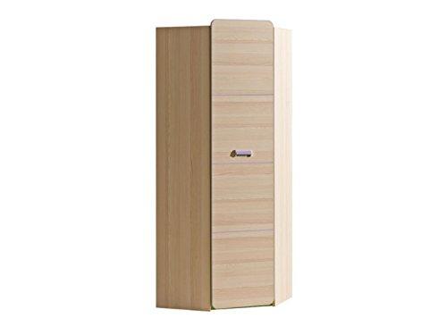 Smartbett armadio angolare limo con 1 anta in frassino, naturale/viola