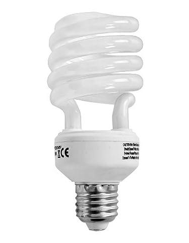 Pack Of 2 - MiniSun Ceiling / Floor Lamp High Quality Warm White 20w ES E27 Energy Saving CFL Spiral Bulbs
