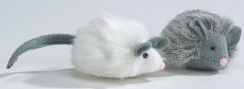 katzeninfo24.de BEEZTEES Katzenspielzeug: Plüschmaus FOXY mit Sound 7cm #0440376