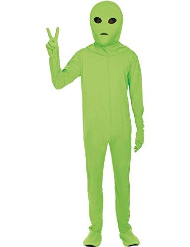 Erwachsene Grüne Ausländer Halloween Kostüm Raum Karneval Verkleidung (Anzug Raum)