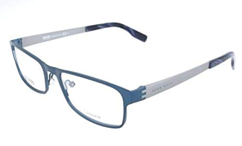 BOSS Hugo Herren Hugo Orange Brille Brillengestelle, Blau, 54