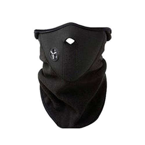 dljztrade - Maschera Scaldacollo Antivento, alla Moda, per Moto, Equitazione, Sci e attività all'Aperto (1 Pezzo), Nero