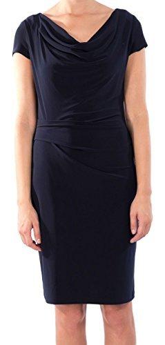 Joseph Ribkoff Midnight Blue Ruched Cap Sleeve Dress Style 172002X