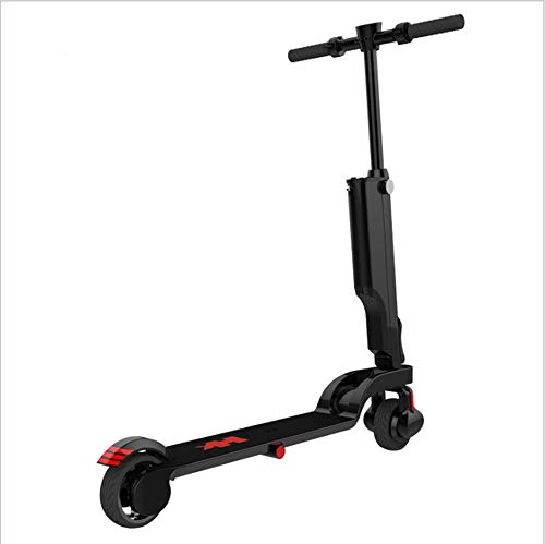 ooter, Erwachsenenroller, Crowded City Scooter, Easy to Carry, Can Be Connected to Bluetooth Play Music, Aluminum Body, Black ()