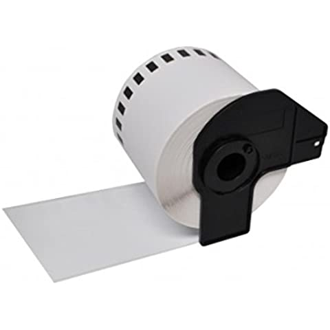 Prestige Cartridge RB22205 - Rollo de papel térmico para etiquetas de dirección (compatible con Brother)