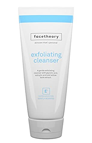 Facetheory Exfoliating Cleanser E1 – Face Scrub for Combination and Oily Skin with Glycolic Acid, Salicylic Acid and 100% Natural Pumice Stone. AHA/BHA Exfoliant. Look Brighter and more Energized! (200ml Tube Fragranced)