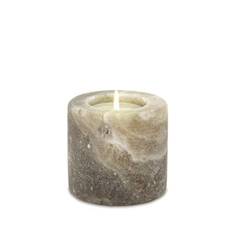 Himalaya Sel Dreams Cristal Photophore Roue, Grey Line, Cristal de sel, Gris, 7 x 7 x 7 cm