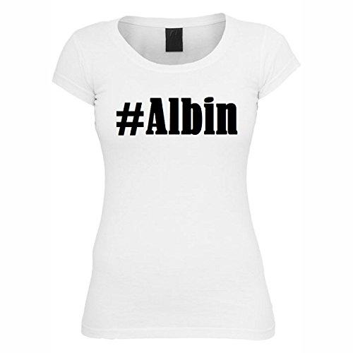T-Shirt #Albin Hashtag Raute für Damen Herren und Kinder ... in den Farben Schwarz und Weiss Weiß