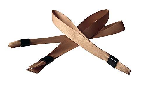 20 Stück Stoffbänder für Festivals mit Plastik-Schiebeverschluß - viele Modefarben (gold)