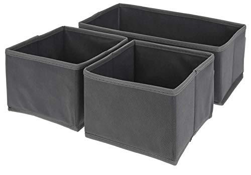 LS-Design 3X Organizer Set Faltbox Regalbox Faltkiste Aufbewahrungsbox Staubox