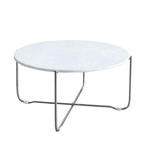 Exklusiver Couchtisch NOBLE aus hochwertig verarbeitetem weißen Marmor Tisch Marmorplatte Wohnzimmertisch