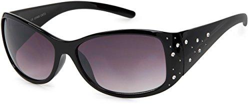 styleBREAKER Sonnenbrille mit Strasssteine und Verlaufstönung, Schmetterlingsform, Damen 09020055,...