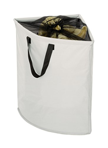 Wenko 3440006100 portabiancheria angolare stone - sacco per biancheria,  75 l, poliestere, 55 x 60 x 40 cm, beige