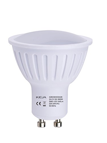 LED FACTORY 3W MR16 GU10 LED Lampe, Ersatz für 30W Halogenlampen, 240lm, Warmweiß, 2800K, 100° Abstrahlwinkel, LED Birne, LED Leuchtmittel