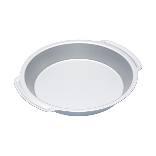 Kitchen Craft Auflaufform, Harteloxal, Silber, 23 x 23 x 4 cm - Deep Pie Pan