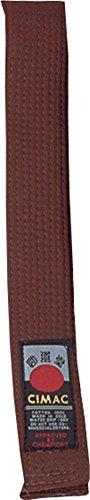 CIMAC 45mm Breite 8, Zeile Nähte Martial Arts einfach Pflegeleichter Stoff Farbe Gürtel, braun