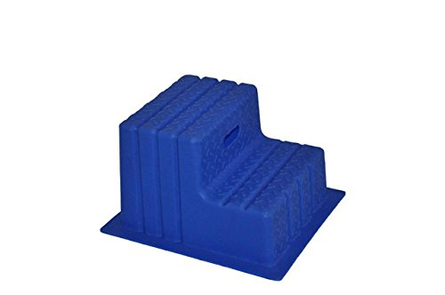 Aufstiegshilfe, Aufstiegs-Hocker mit 2 Stufen. Blau