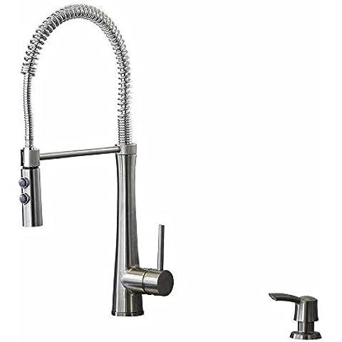Fresco de acero inoxidable 1-ASA Descendente Kitchen Sink faucet Boquilla de pulverización