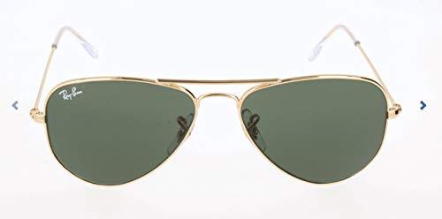 Ray-Ban Unisex Sonnenbrille Rb 3044 Gestell: Gold Glas: grün klassisch L0207, Small (Herstellergröße: 52)