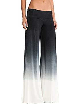 Nimpansa Pantalones Anchos Mujer Casaul Gradiente Largo Pantalones Sueltos